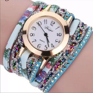 New Fashion Rhinestone Wrap Wrist Watch